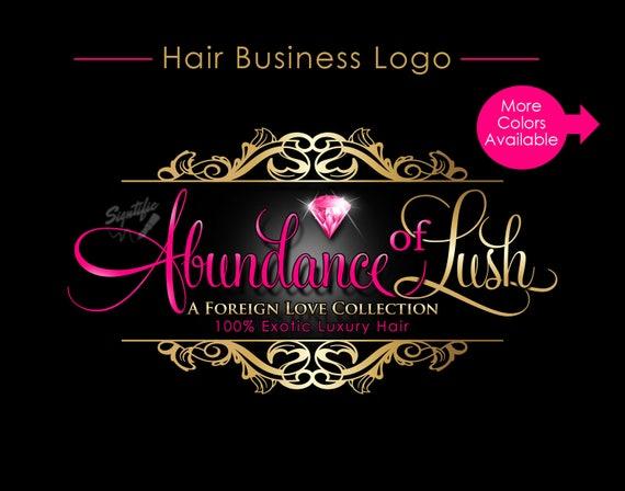 Hair Extensions Logo, Hair Logo Design, Hair Packaging Logo, Hair Bundle Logo, Hair Tag Logo, Diamond Logo, Virgin Hair Logo, Bling Logo