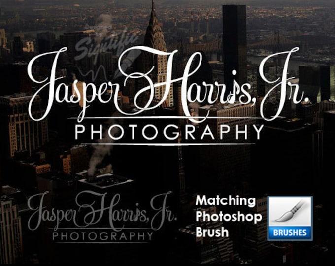 Photography Logo and Photoshop Brush of the Logo, Photographer Name Signature Design, Photography Watermark, Photography Brush Preset