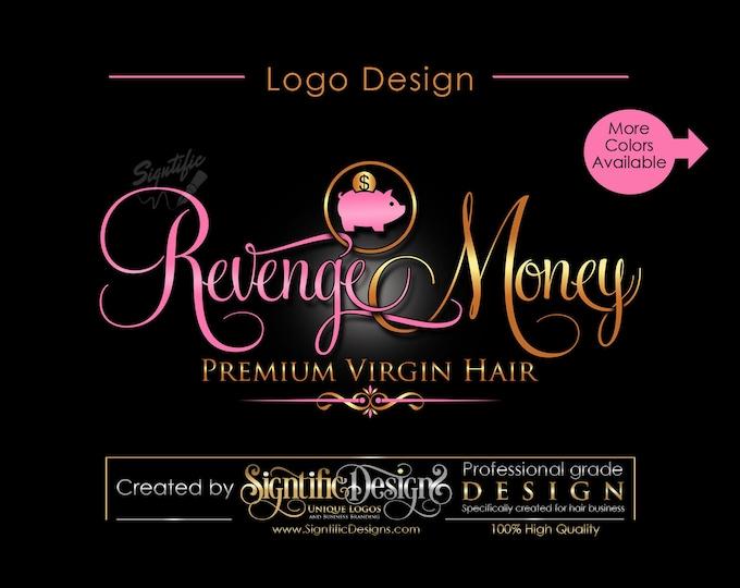 Hair Extensions Logo, Hair Logo, Hair Business Logo, Logo Design, Hair Bundle Logo, Hair Tag Logo, Logo for Hair, Design Logo, Hair Branding