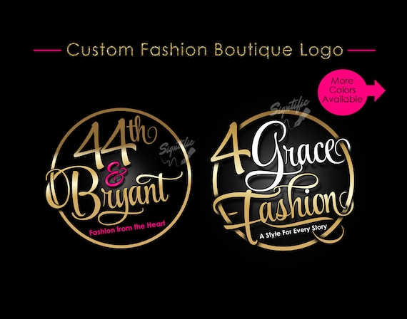 Custom Boutique Logo, Circular Logo, Fashion Logo, Clothing Logo, Attire Logo, Apparel Logo, Couture Logo, Badge Logo, Clothing Branding