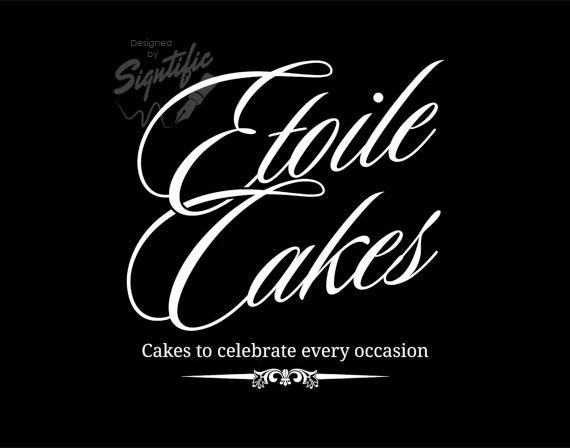 Cake business logo free business card design and psd custom cake business logo free business card design and psd custom white and black logo premade logo graphic design logo bakery logo design reheart Choice Image