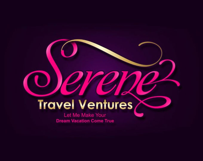 Custom logo design, business brand logo in any colors, pink and gold logo design, elegant business logo, FREE PSD source file