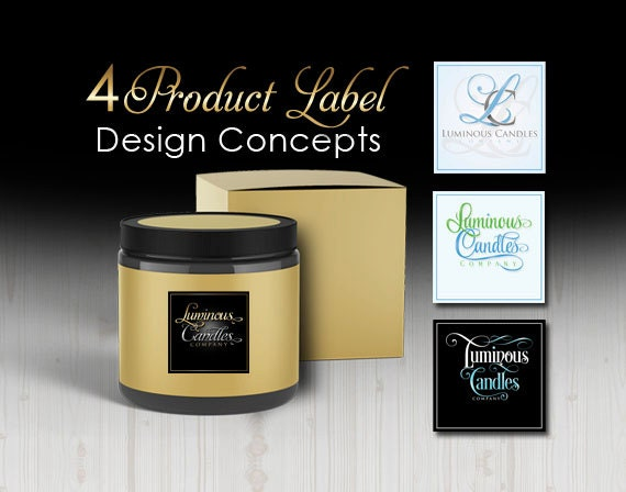 4 Candle Label Designs, Product Label Design Concepts, Sugar Scrub Label Design, Jar Label Design, Product Logo, Soap Label Design Concepts