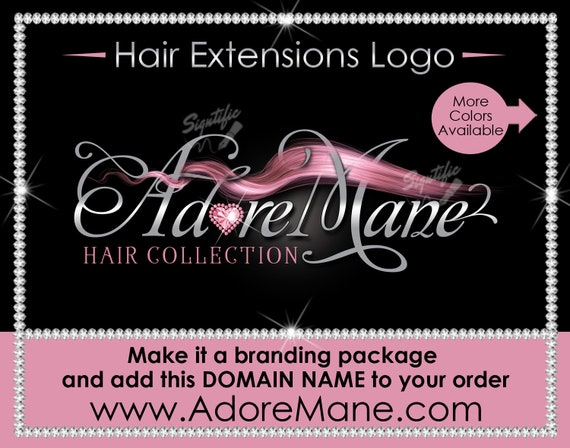Hair Extensions Logo, Hair Business logo, Hair Logo, Flowing Hair Logo, Bundle Logo, Packaging Logo, Semi Custom Logo, Hair Stylist Logo