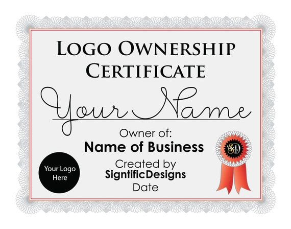 Logo Ownership Certificate, Logo Design License Add On
