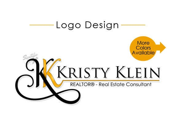 Custom Realtor Name Logo, Real Estate Agent Logo Design, Logo for e-mail Signature, Business Logo, Name Signature with initials monogram