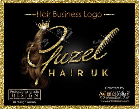 Hair Extensions Logo, Hair Company Logo, Bling Logo, Hair Glitter Logo, Packaging Logo, Hair Logo, Logo for Hair, Hair Company Logo Design