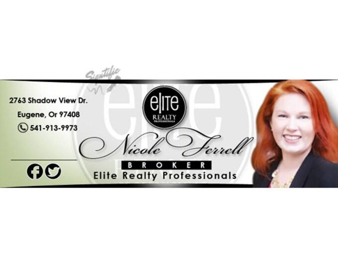 Real Estate Email Signature Design, Real Estate Agent Signature for e-mail
