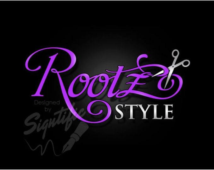 Hair Salon Logo, Premade Logo, Business Logo, Custom Logo Design, Beauty Salon Logo, Hair Stylist Logo, Graphic Logo Design