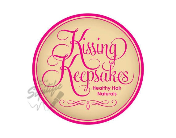 Custom product label, round logo design in any colors, round pink label on beige, creative logo design, hair oil logo, product logo design