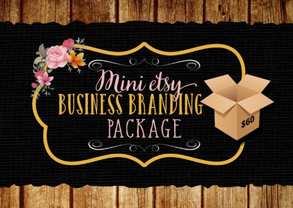Etsy Mini Branding Package, Etsy Banner, Matching Business Card Design and a Thank You Note Template, Business Graphic Design, Custom Design