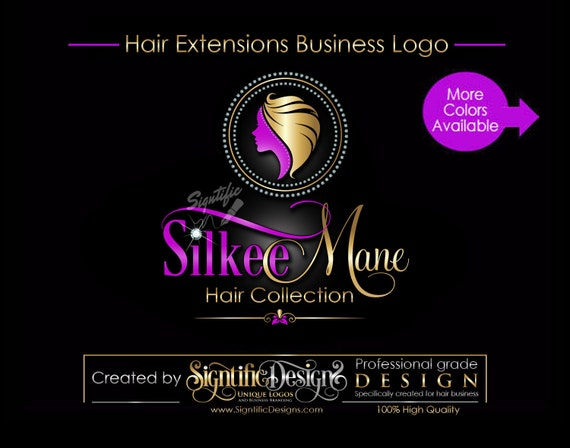 Hair Extension Logo, Hair Business Logo, Bling Logo Design, Hair Business Brand, Diamond Frame Logo, Hair Bundle Branding, Hair Tag Logo