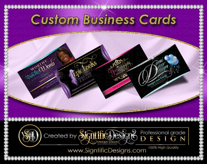 Custom Business Cards, Printed Cards, Full Color Cards, Visit Cards, Custom Cards, Personalized Cards, Company Cards, Hair Extension Card