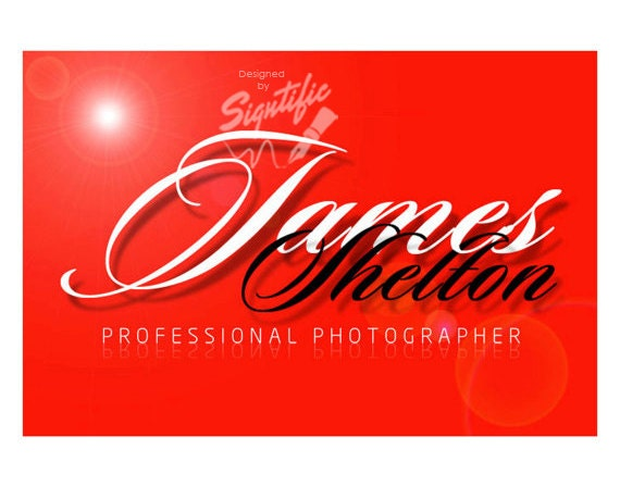 Custom Photography Logo, Photographer Signature Text Logo, Photography Watermark in Any Colors, Photography Branding