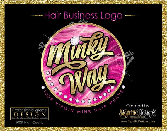 OOAK Hair Business Logo, Hair Company Logo, Bling Hair Logo, Hair Logo, Packaging Logo, Diamond Bling Logo, Logo for Hair, Hair Branding