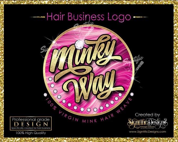 OOAK Hair Business Logo, Hair Company Logo, Bling Hair Logo, Hair Logo, Packaging Logo, Diamond Bling Logo, Logo for Hair, Hair Branding