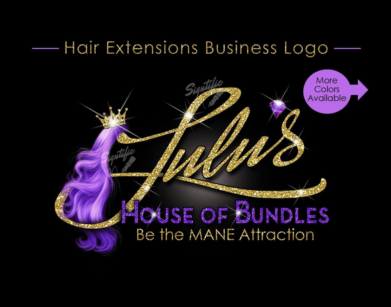 hair extensions logo hair logo hair business logo