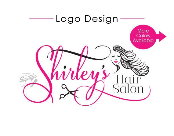 Hair Salon Logo Design, Custom Hair Salon Logo, Business Logo Design, Logo Design, Business Logo, Scissors Logo, Hair Silhouette Logo