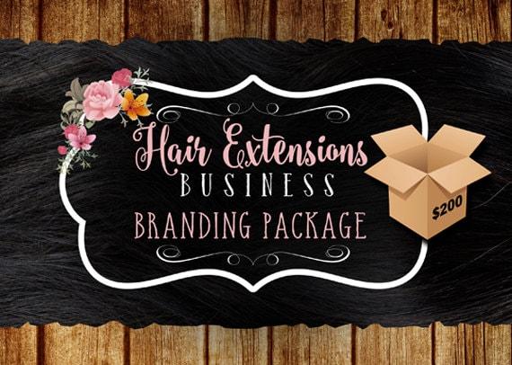 Hair Extensions Business Branding Package, Hair Business Startup package, Hair and Wigs Store Logo Designs, Etsy Shop Branding Designs