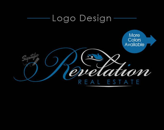 Custom Real Estate Logo, email Signature Design, Realty Logo design in Corporate Colors, Sign Logo Design