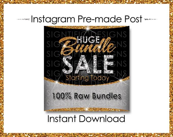 Instant Download, Huge Bundle Sale, Hair Extension Flyer, Instagram Post, Digital Flyer, Glitter Gold Silver, Instagram Flyer, IG Post Flyer
