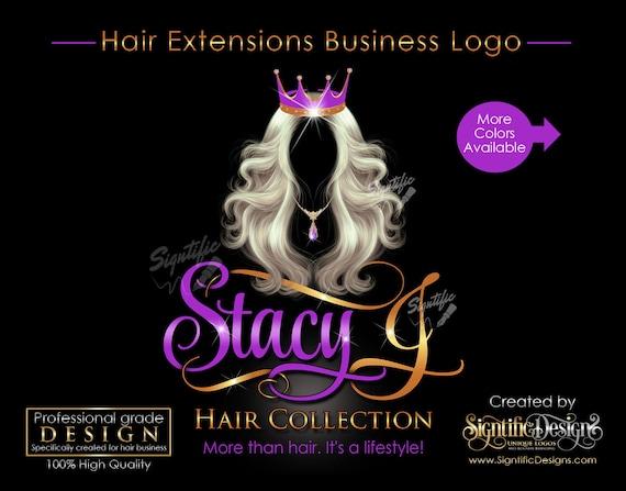 Hair Extensions Logo, Hair Bundle Business Logo, Virgin Hair Logo, Hair Logo, Crown Hair Logo, Hair Tags Logo Design, Wig Business Logo
