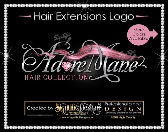 Hair Bundle Logo, Hair Business Logo, Hair Extensions Logo, Flowing Hair Logo, Packaging Logo, Hair Tag Logo, Bundle Wrap Logo, Hair Brand
