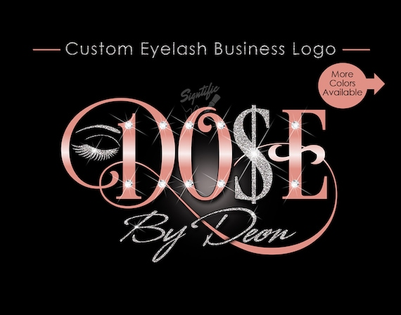 Eyelash Business Logo, Custom Eyelash Logo, Makeup Artistry Logo, Lashes Logo, Glitter Salon Logo, Business Logo, Bling Logo, Logo Custom