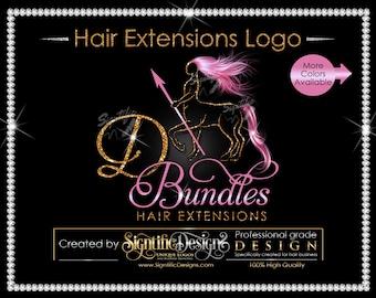 Hair Extensions Logo, Hair Bundle Logo, Sagittarius Logo, Hair Logo, Glitter Hair Logo, Hair Tags Logo, Wig Business Logo, Packaging Logo