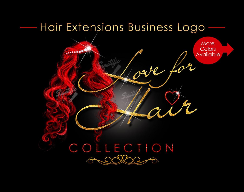 Hair Extensions Logo Bling Hair Logo Hair Business Logo Packaging