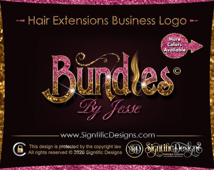 Hair Company Logo, Glitter Hair Logo, Bling Logo, Hair Bundle Logo, Logo Hair, Hair Extension Logo, Hair Collection Logo, Wig Logo Design