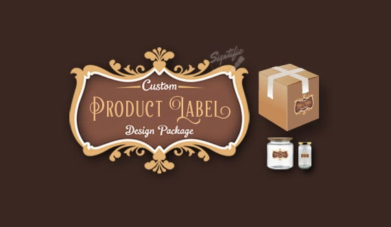 Custom Product Label Design Package, Bath and Body Products Label Design, Jar Label Design, 2 Label Design Versions and Source File