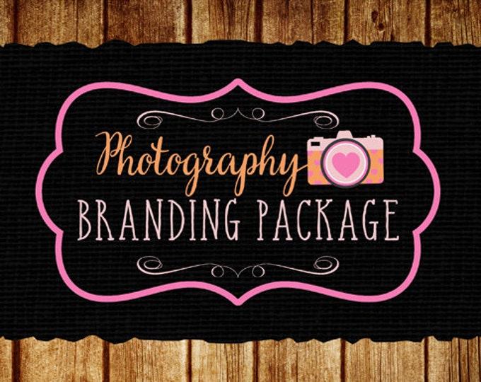 Custom Photography Logo Branding Package, Photography Logo, Web Banner, Social Media Banner, Watermark and 500 Business Cards, Custom Logo
