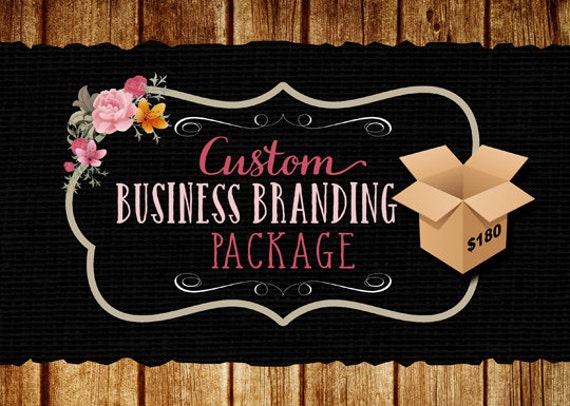Business Branding Package, Logo, Watermark, 500 postcards, matching avatar.