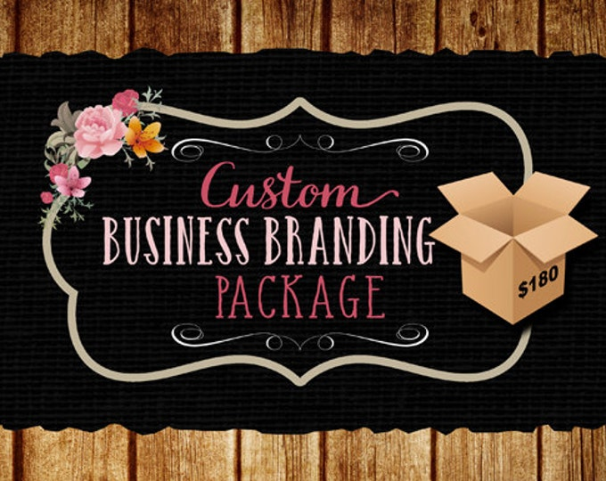 Business Branding Package, Logo, Watermark, 500 postcards, matching avatar.