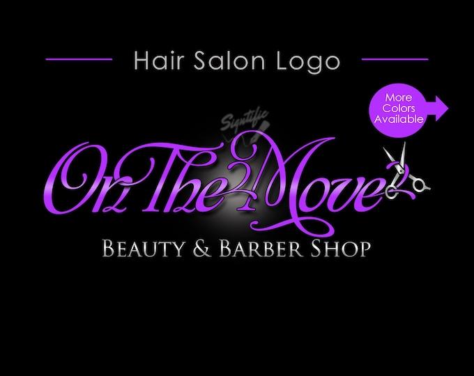 Hair Salon Logo, Hair Business Logo, Logo, Logo Custom, Scissors Logo, Hair Stylist Logo, Hair Dresser Logo, Branding Logo, Graphic Design