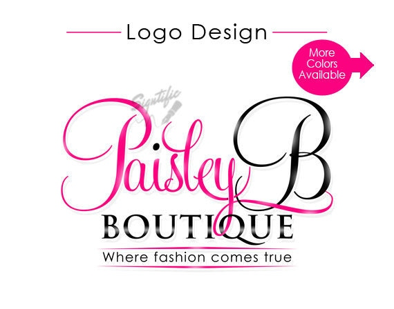 Custom boutique logo, pink and black logo design, custom logo design, fashion logo, premade closet fashion logo design, unique logo design