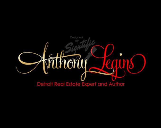 Real Estate Agent Logo, Realty Logo Design, Small Business Logo, Custom Name Signature, e-mail Signature Logo Design