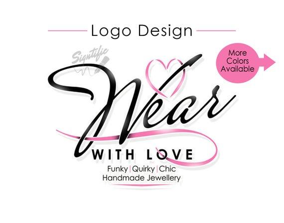 Custom Logo Design, Heart Logo, Small Business Logo, Web Store Logo, eCommerce Logo, Web Shop Logo, Shopping Logo, Online Store Logo Design