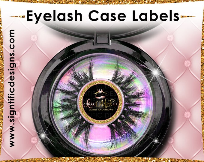 Eyelash Case Stickers, Lash Labels, Eyelash Box Labels, Lash Stickers, Lash Round labeling, Lash Packaging Label, Lash Extension Labels