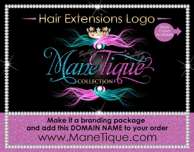 630d690073dd Hair Extensions Logo Hair Glitter logo Hair Branding Bundle