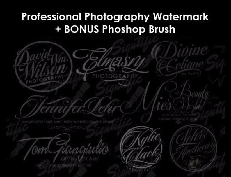Custom Photography Watermark Plus Photoshop Brush Preset image 0