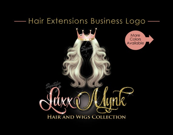 hair extensions logo hair bundle business logo virgin hair etsy