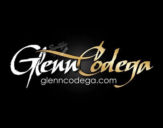 Name signature logo, white and gold logo, custom name logo, OOAK name signature, elegant text logo, website logo design, logo in any color
