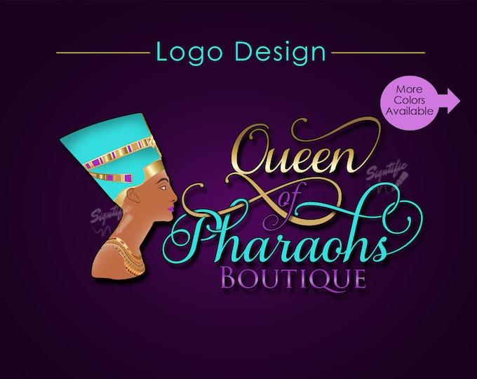 Custom Logo, Boutique Logo, Logo Design, Logo Custom, Nefertiti Logo, Queen Logo, Business Logo, Logos, Shop Logo, Website Logo, Branding