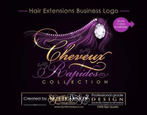 Hair Business Logo, logo for Hair, Hair Extensions Logo, Glitter Hair Logo, Hair Bundle Logo, Hair Branding, Diamond Hair, Bundle Branding