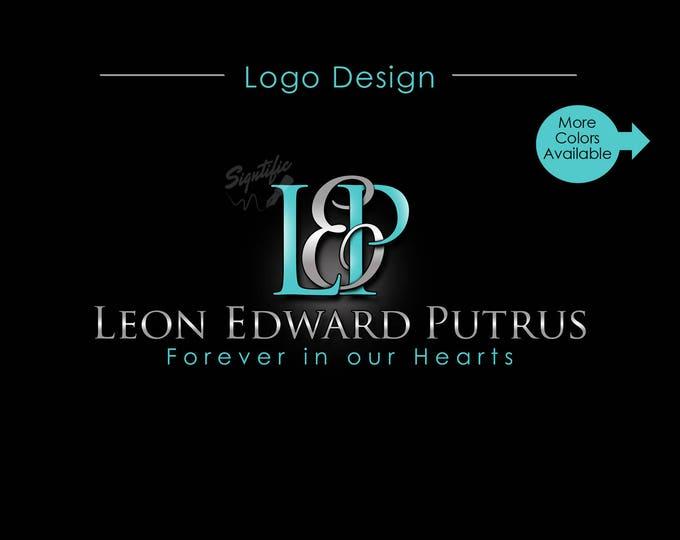 Custom Name Logo, Monogram Logo, Memorial Name Logo, Initials Name Logo, Agent Logo, Intertwined Logo, Professional Logo