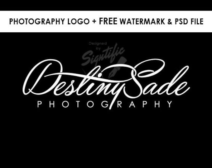 Photography logo, FREE watermark, black and white logo design, photographer watermark, photo signature, business logo design, creative logo
