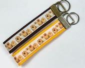 Dogs Pomeranian Ribbon Wristlet KeyFob Lanyard Dog Collar, Luggage Backpack Tag, Teacher Badge Whistle Holder, Souvenir, Vet Lanyard Gift