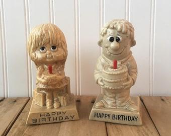 Vintage W&R Berries Co's 1972 - 1980 Happy Birthday Figurine